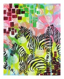 Mind Reading Zebras Print by Jessica Swift