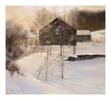 Winterstille Kunstdruck von Esther Engelman