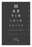 Eye Chart Martini Prints by  Fig & Melon Press