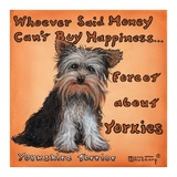 Yorkies = Happiness Prints by Janet Kruskamp