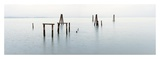 Vintage Pier in the Mist Art by Alan Blaustein
