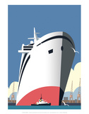 Ocean Cruises Blank - Dave Thompson Contemporary Travel Print Prints by Dave Thompson