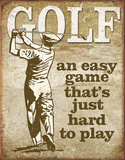 Golf - Easy Game Plaque en métal