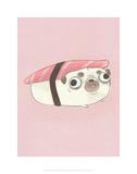Hannah Stephey - Pug - Hannah Stephey Cartoon Dog Print Plakát