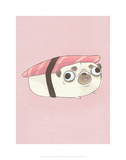 Pug - Hannah Stephey Cartoon Dog Print Posters by Hannah Stephey
