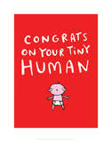 Tiny human - Katie Abey Cartoon Print Prints by Katie Abey