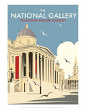 National Gallery - Dave Thompson Contemporary Travel Print Prints by Dave Thompson