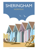 Sheringham - Dave Thompson Contemporary Travel Print Prints by Dave Thompson