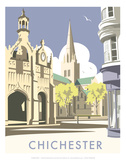 Chichester - Dave Thompson Contemporary Travel Print Prints by Dave Thompson