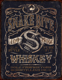 Snake Bit Whiskey Tin Sign