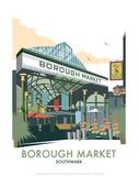 Borough Market - Dave Thompson Contemporary Travel Print Kunstdrucke von Dave Thompson