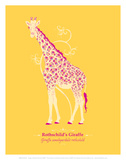 Giraffe - WWF Contemporary Animals and Wildlife Print Poster by  WWF