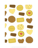 Biscuits - Tommy Human Cartoon Print Prints by Tommy Human