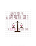 Balanced Diet - Wink Designs Contemporary Print Posters by Michelle Lancaster