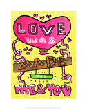 Love Was Made For Me & You - Tommy Human Cartoon Print Prints by Tommy Human