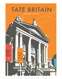 Tate Britain (Orange) - Dave Thompson Contemporary Travel Print Prints by Dave Thompson