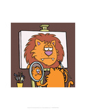 Self Portrait - Antony Smith Learn To Speak Cat Cartoon Print Prints by Antony Smith