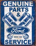 Ford Service - Pistons Plaque en métal