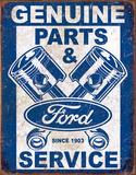 Ford Service - Pistons Tin Sign
