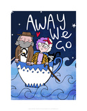 Away We Go - Katie Abey Cartoon Print Prints by Katie Abey