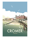 Cromer - Dave Thompson Contemporary Travel Print Prints by Dave Thompson
