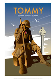 Tommy, Seaham County Durham- Dave Thompson Contemporary Travel Print Giclee Print by Dave Thompson