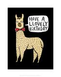 Have a Llovely Birthday - Katie Abey Cartoon Print Kunst af Katie Abey