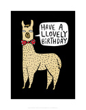 Have a Llovely Birthday - Katie Abey Cartoon Print Art by Katie Abey