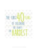 40 Years of Childhood - Wink Designs Contemporary Print Posters by Michelle Lancaster