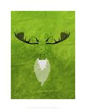 Moose - Jethro Wilson Contemporary Wildlife Print Prints by Jethro Wilson