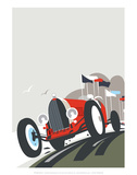 Goodwood Blank - Dave Thompson Contemporary Travel Print Posters by Dave Thompson