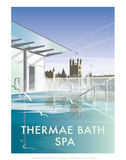Thermae Bath Spa - Dave Thompson Contemporary Travel Print Prints by Dave Thompson