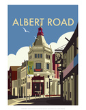 Albert Road - Dave Thompson Contemporary Travel Print Prints by Dave Thompson