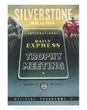 Trophy Meeting 15th May 1954 - Silverstone Vintage Print Print by Silverstone