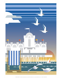 Southsea - Dave Thompson Contemporary Travel Print Prints by Dave Thompson