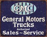 GMC Trucks - Authorized Plaque en métal