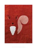 Squirrel - Jethro Wilson Contemporary Wildlife Print Posters by Jethro Wilson