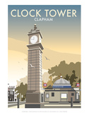 Clock Tower, Clapham - Dave Thompson Contemporary Travel Print Poster by Dave Thompson