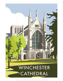 Winchester Cathedral - Dave Thompson Contemporary Travel Print Prints by Dave Thompson