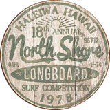 North Shore Surf Plaque en métal