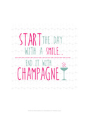 Champagne - Wink Designs Contemporary Print Prints by Michelle Lancaster