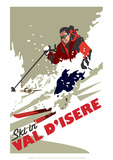 Val D'Isere - Dave Thompson Contemporary Travel Print Giclee Print by Dave Thompson