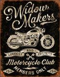 Widow Maker's Motorcycle Club Plaque en métal