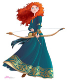 Merida - Disney Princess Friendship Adventures Lifesize Standup Cardboard Cutouts