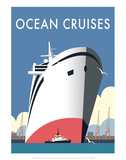 Ocean Cruises - Dave Thompson Contemporary Travel Print Prints by Dave Thompson