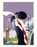 London Blank - Dave Thompson Contemporary Travel Print Prints by Dave Thompson