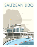 Saltdean Lido - Dave Thompson Contemporary Travel Print Prints by Dave Thompson