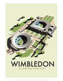Wimbledon - Dave Thompson Contemporary Travel Print Posters par Dave Thompson