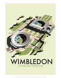Wimbledon - Dave Thompson Contemporary Travel Print Plakater av Dave Thompson