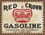 Red Crown - Checker Board Plaque en métal